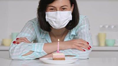 Brunette Celebrating Date of Birth Quarantine