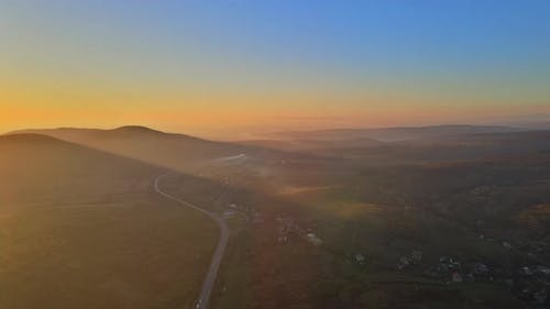 Natural Landscape Mountain Valley During Sunrise