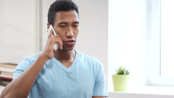 Phone Talk, Young Man Attending Call