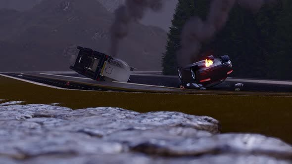 Thumbnail for Traffic Crash of Tanker with Luxury Sports Car