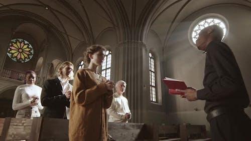 Sunday Service in Christian Church