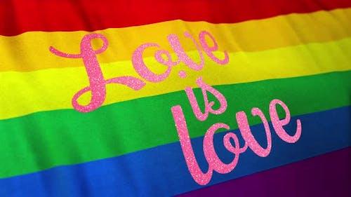 Love is Love Rainbow Flag