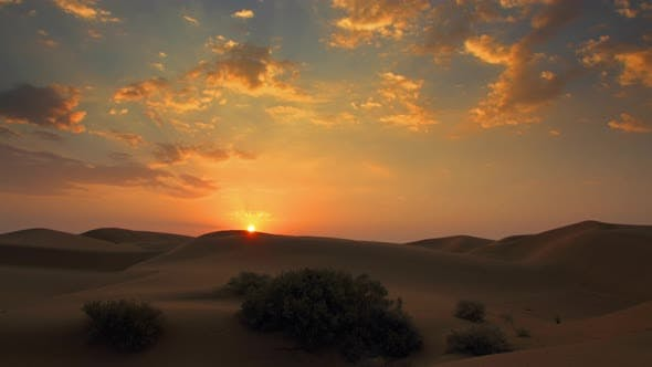 Thumbnail for Sunrise in Tar Desert India Timelapse