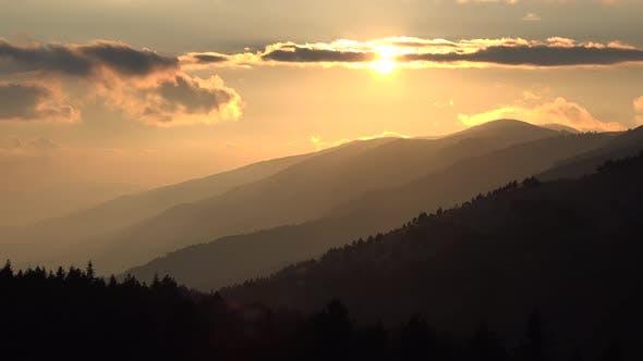 Thumbnail for Successive Mountain Ridges at Sunset