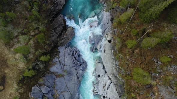 Thumbnail for Fly above the blue mountain river Glomaga,Marmorslottet , Mo i Rana,Norway