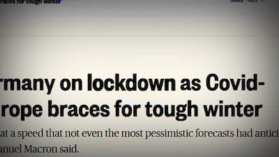 Coronavirus in the Headlines of Media News Around the World. Media News Headline Alert. Global