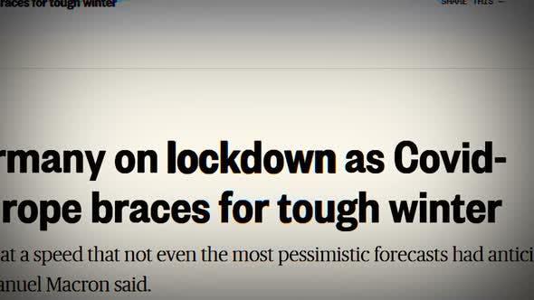Thumbnail for Coronavirus in the Headlines of Media News Around the World. Media News Headline Alert. Global