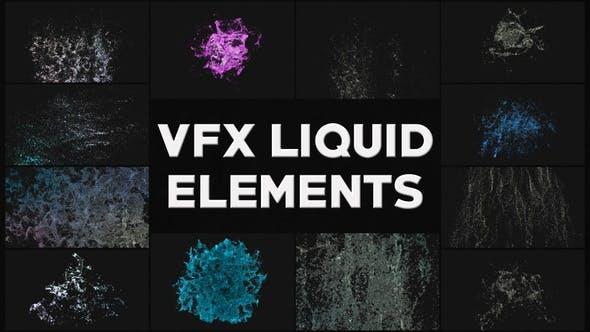 Thumbnail for VFX Liquid Elements | Motion Graphics Pack