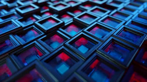 Abstract Background From Metal Cubes