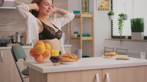 Seductive Housewife Relaxing