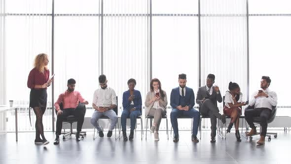 Thumbnail for Multiethnic Applicants Sitting in Queue for Getting a Job