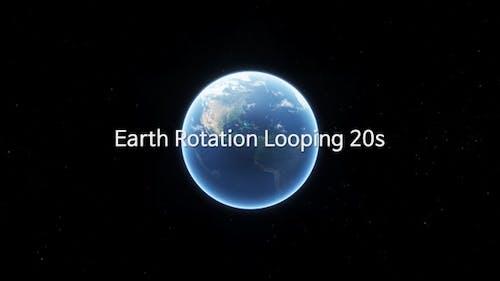 Earth Rotation Looping 20s