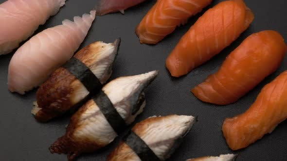Thumbnail for Rotate Fresh Sushi Food Background
