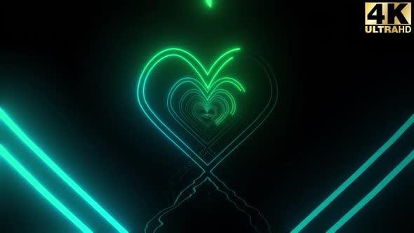 Neon Heart Stroke Pack 4k