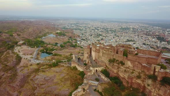 Thumbnail for Mehrangarh Fort in Jodhpur, Rajasthan with a Blue City.