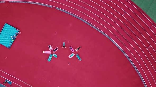 Thumbnail for Teamwork of Group of Women Doing Exercise