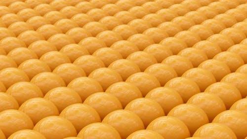 Yellow Spheres Animation Background