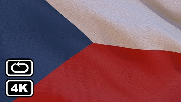 Thumbnail for Czech Flag 4K Seamless Loop
