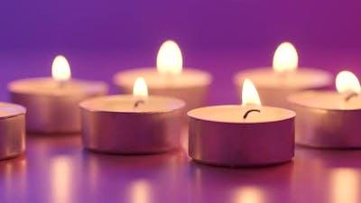 Burning candle light