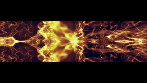 Thumbnail for Slow Gold Particles Background Ultra Wide