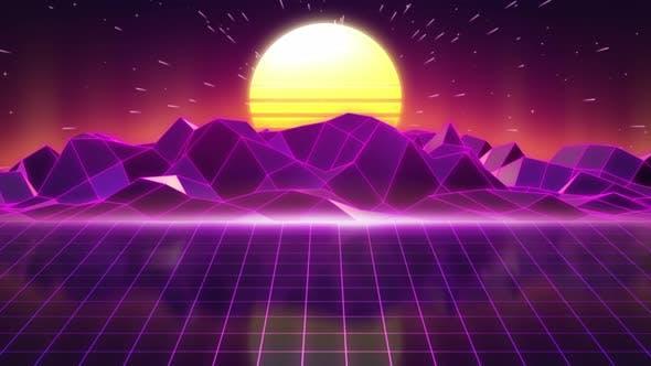 Thumbnail for 80s Retro Background 06