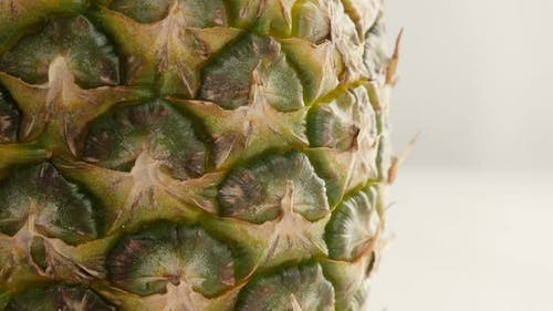 Ananas comosus detailed structure slow tilt 4K 2160p 30fps UltraHD  footage - Close-up of tropical p