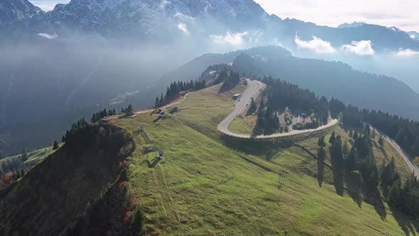 Thumbnail for Flight Over Rossfeld Mountain Panoramic Road, Berchtesgaden, Germany