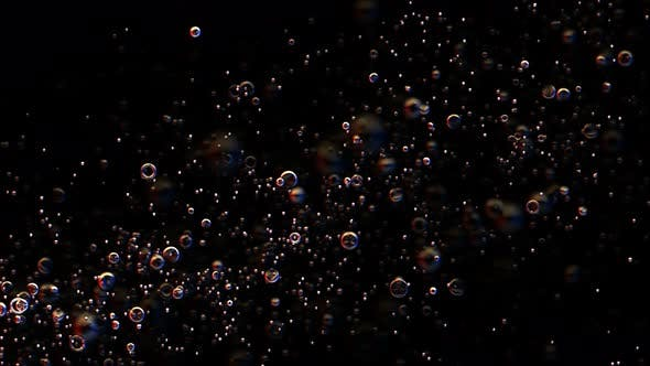 Thumbnail for Bubbles Rising Lower Left To Upper Right Seamless Loop
