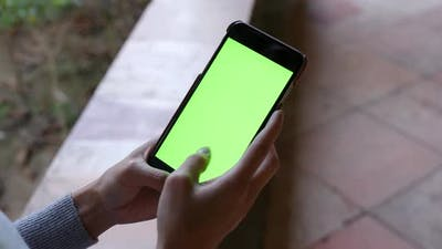 Chroma key on cellphone
