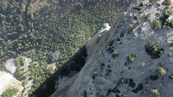 Thumbnail for Aerial Shot Over High Vertical Walls of El Capitan From the Edge of Its Top. Yosemite National Park