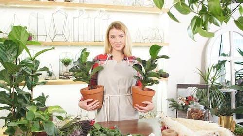 Portrait of Smiling Woman Florist