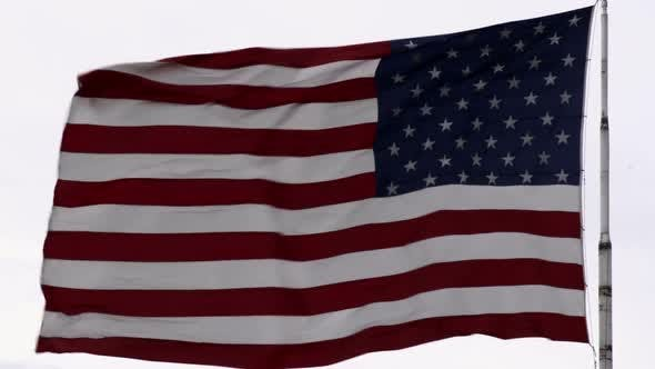 Thumbnail for United States flag blowing the breeze.