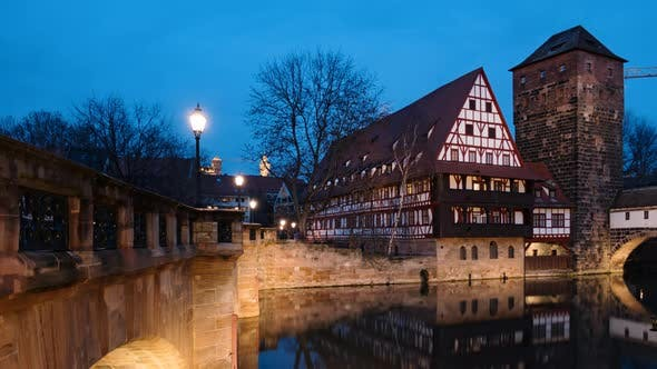 Day To Night Timelapse of Nuremberg, Germany