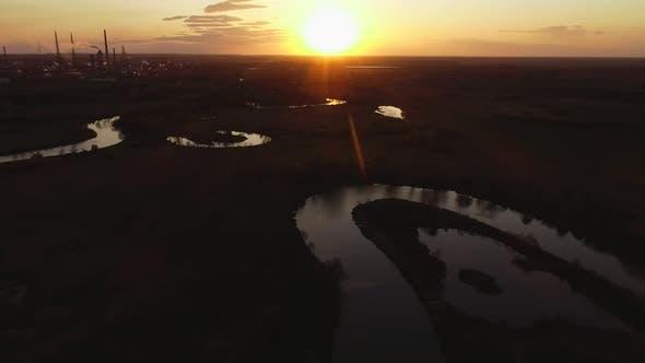Thumbnail for Wild River on Sunset in Ukraine