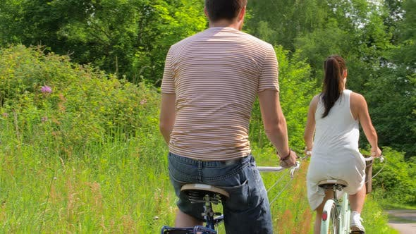 Thumbnail for Friends Riding Fixed Gear Bicycles in Summer
