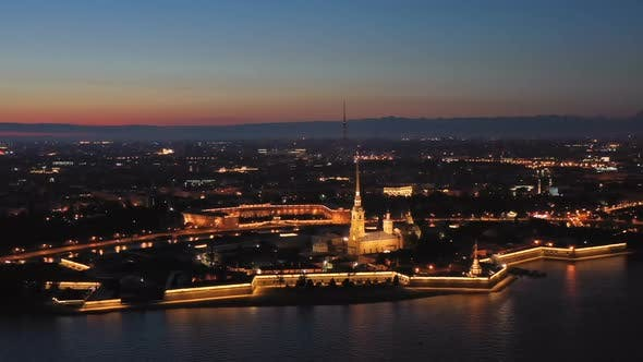 Thumbnail for Aerial View of Peter and Paul Fortress in Russia