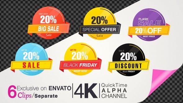 20 Percent Sales Discount Banner