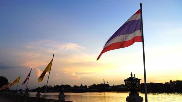 Thumbnail for Thailand Flag River Sunset