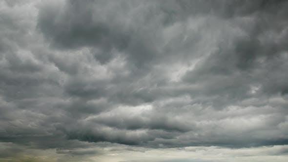 Dark cumulus clouds