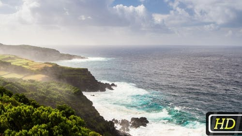 Felsküste der Azoren