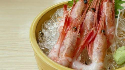 Raw fresh seafood sashimi Japanese food style