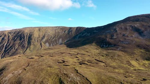Aerial View of the Backside of Slieve League in County Donegal Ireland