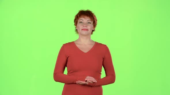 Thumbnail for Woman in the Theater Claps Bravely To the Actors. Green Screen