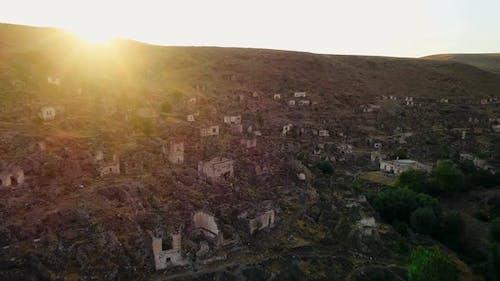 Historic City Ruins At Sunset