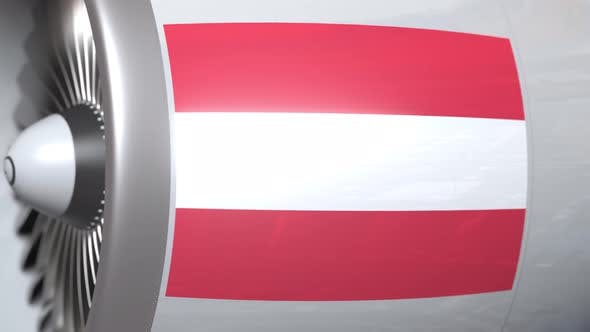 Thumbnail for Aircraft Engine with Flag of Austria