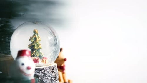 Christmas Globe With Copy Space Background