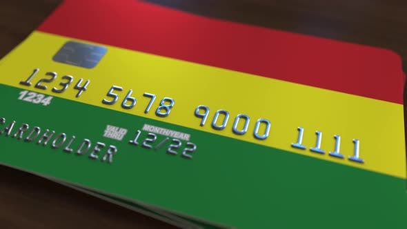 Thumbnail for Credit Card with Flag of Bolivia