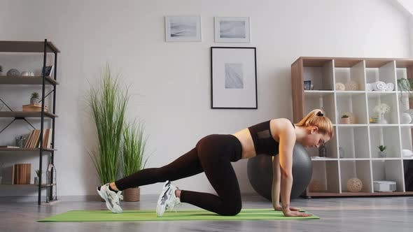 Mobile Fitness Training at Home Woman Exercise App