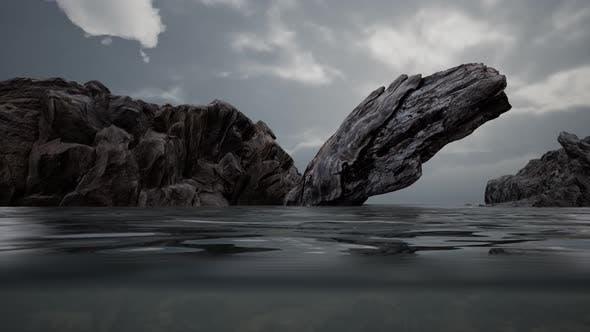 Thumbnail for Halbunterwasser in Nordsee mit Felsen