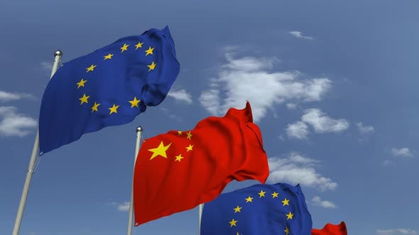 Thumbnail for Flags of China and the European Union